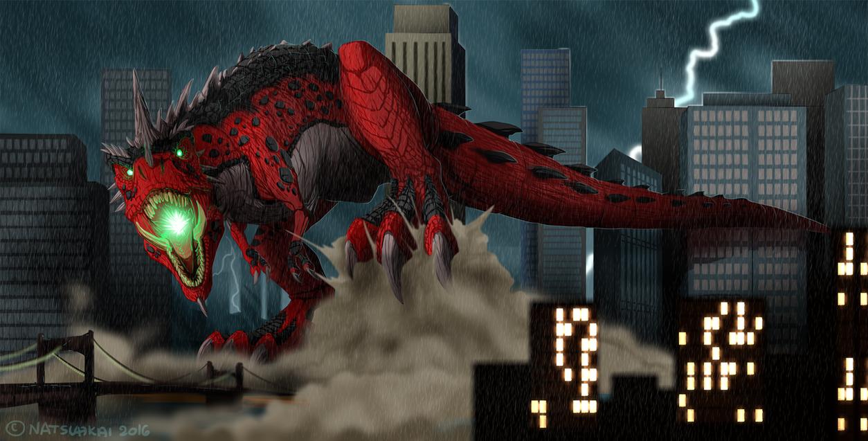 Comm: New Kaiju in Town by Natsuakai