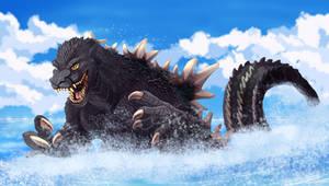 Godzilla by Natsuakai