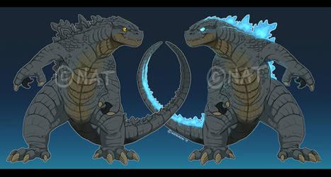 Godzilla t-shirt designs by Natsuakai