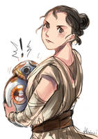 Star Wars 7 - Rey and BB-8