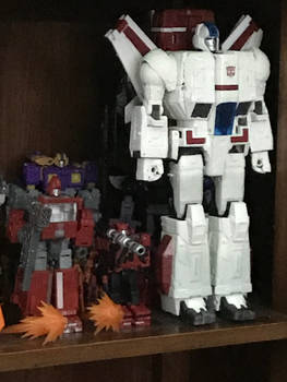 jetfire apart of my transformers shelf collection