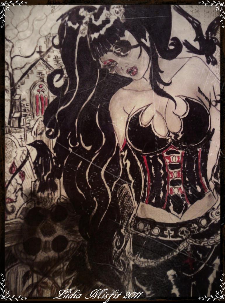 Macabrella sketch by MissMisfit13
