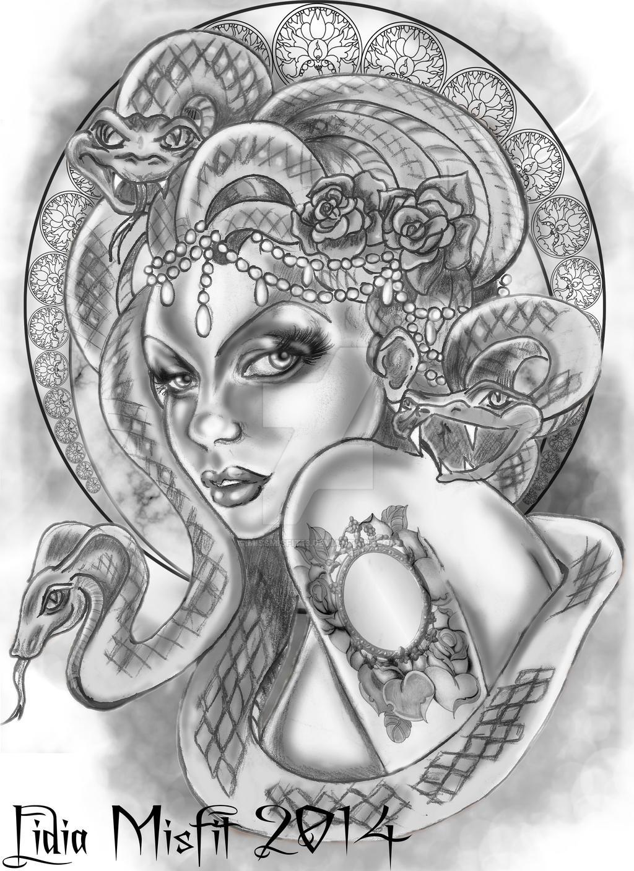 Medusa Illustration Tattoo: Medusa By MissMisfit13 On DeviantArt
