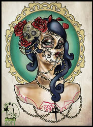 090d59c80 Ghost neo traditional tattoo design :iconmissmisfit13: MissMisfit13 32 2  Day Of The Dead Girl by MissMisfit13
