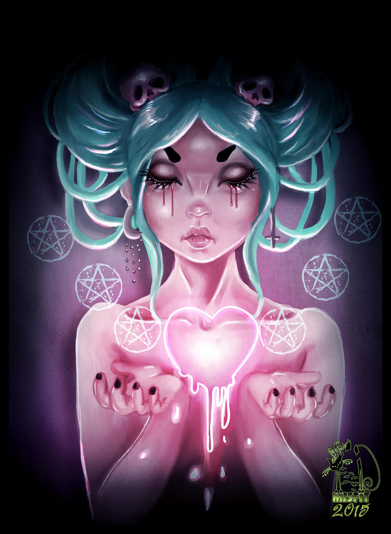 Dripping heart by MissMisfit13