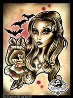 Morticia Tattoo by MissMisfit13