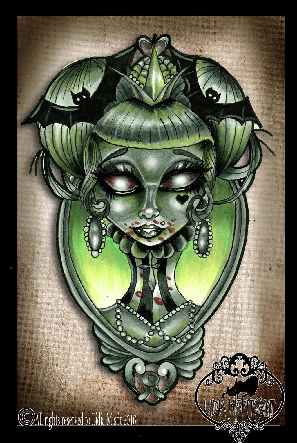 vampire girl tattoo flash by missmisfit13 on deviantart. Black Bedroom Furniture Sets. Home Design Ideas