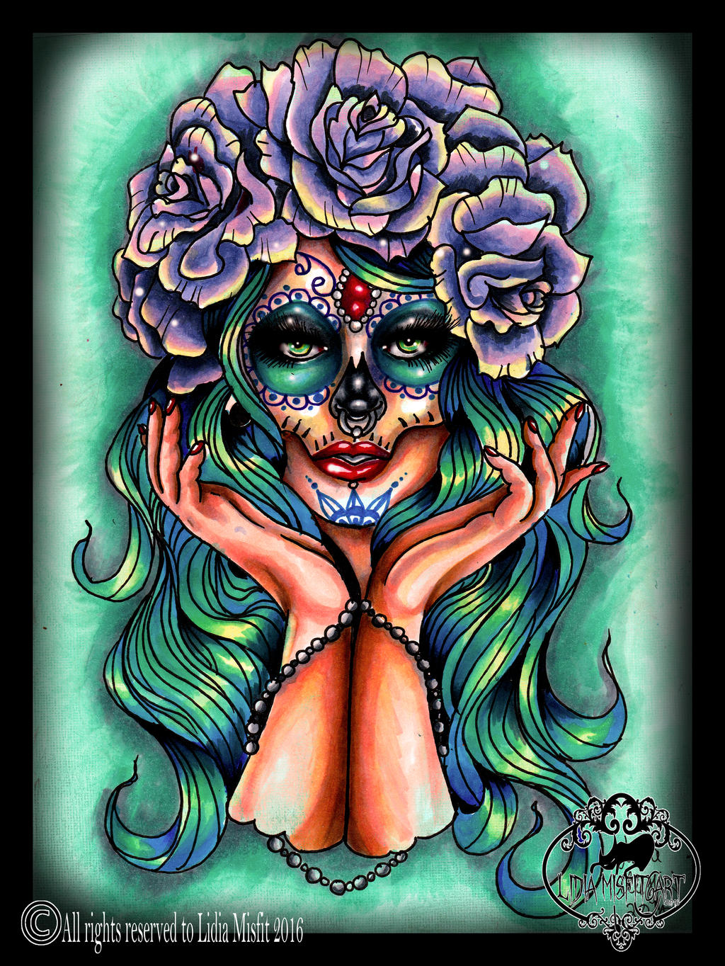 day of the dead girl tattoo flash by missmisfit13 on deviantart. Black Bedroom Furniture Sets. Home Design Ideas