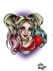 Harley Quinn tattoo flash by MissMisfit13