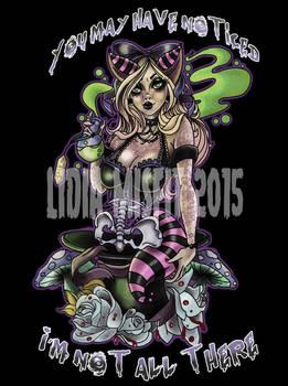 Cheshire Cat alice in the wonderland pin up design