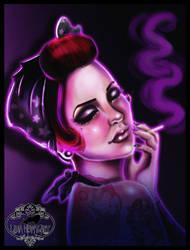 Smoking  pin up remake by MissMisfit13