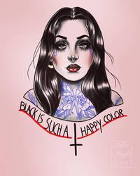 Morticia Addams tattoo design