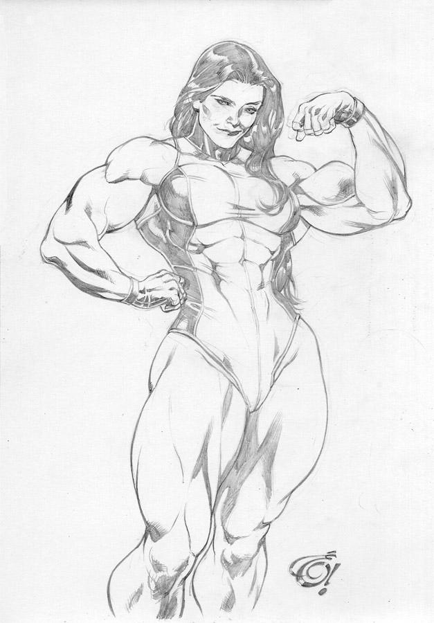 She Hulk. by UZOMISTUDIO