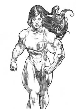 She Hulk Walking