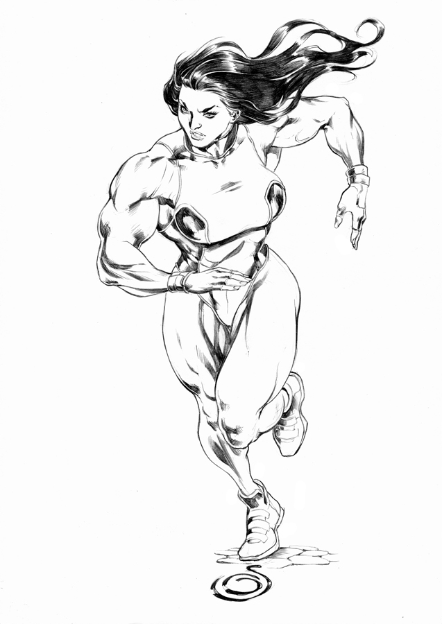 She hulk running by uzomistudio on deviantart for She hulk coloring pages