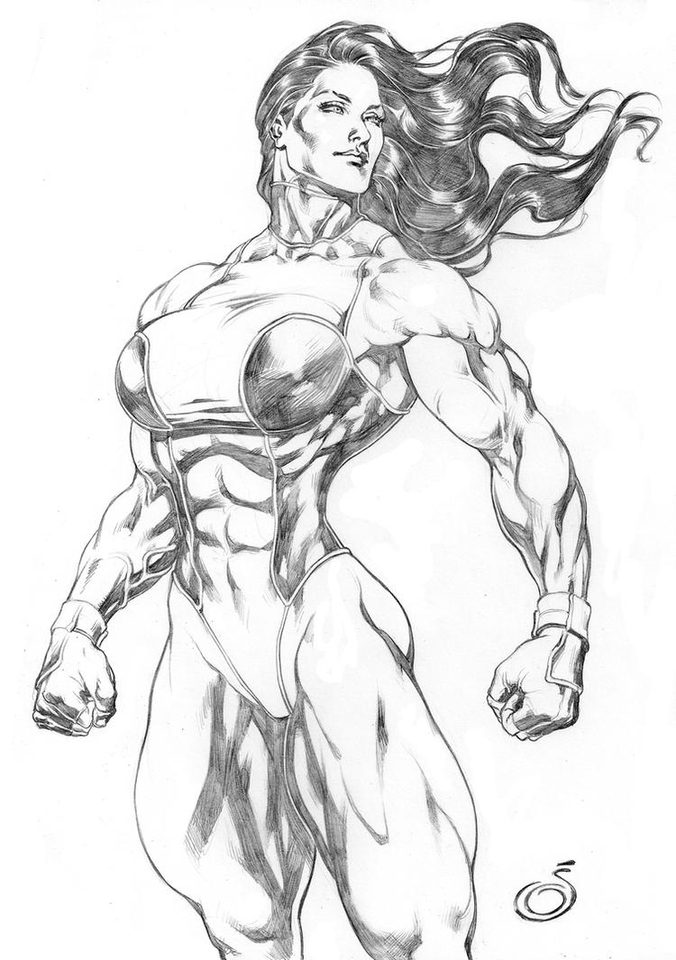 Imposing She Hulk by UZOMISTUDIO