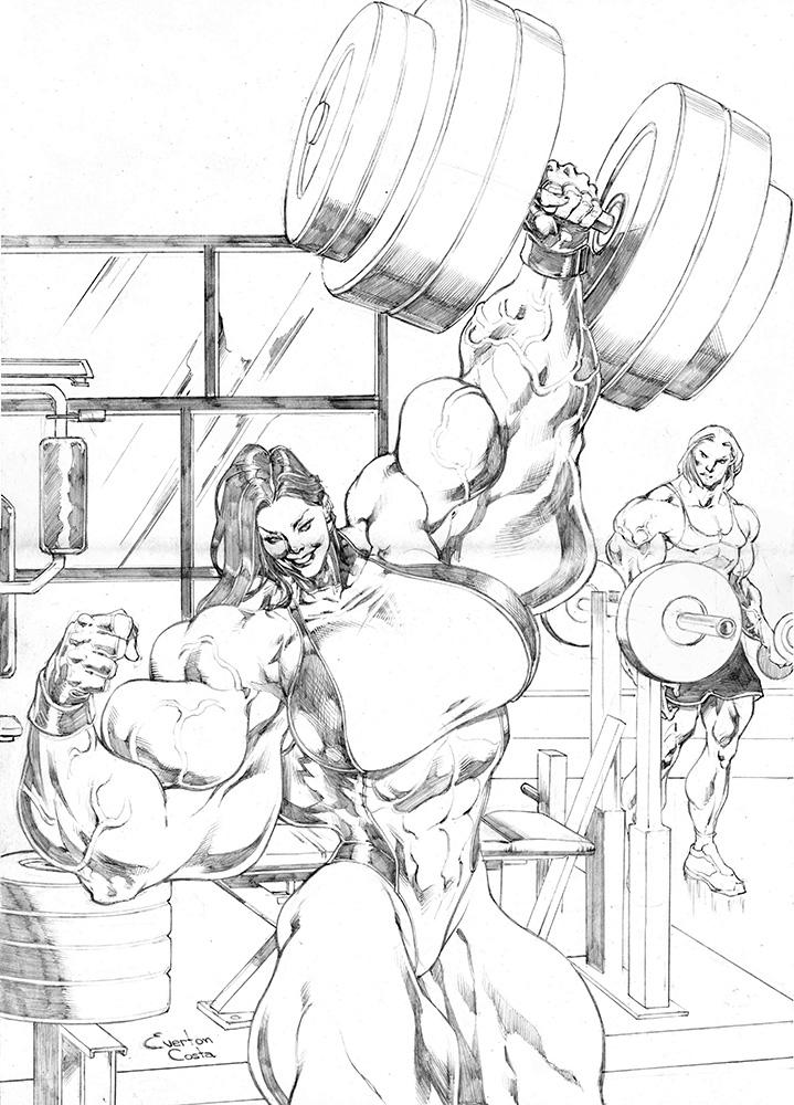 Giant She Hulk by UZOMISTUDIO