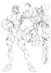 Miranda and Spelkshire by UZOMISTUDIO