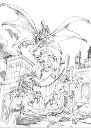 Muriel against Demons by UZOMISTUDIO