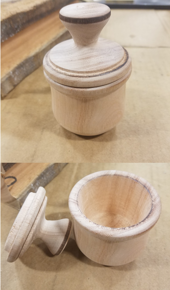 Soft Pink Wood Jar by RuneSpider