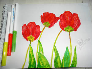 Wanted to Draw Tulips With Markers :D