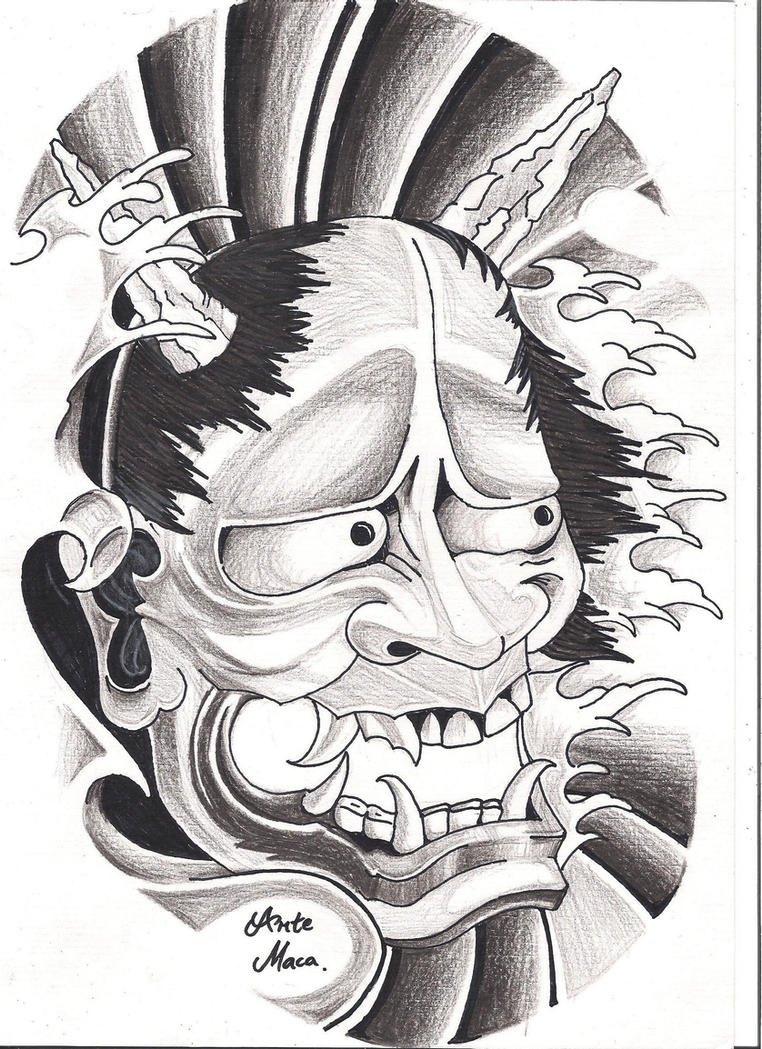 Hannya Mask - by mcxr on DeviantArt