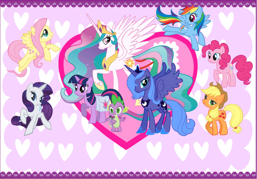 My Little Pony Valentines Card By Curruptedcynder On