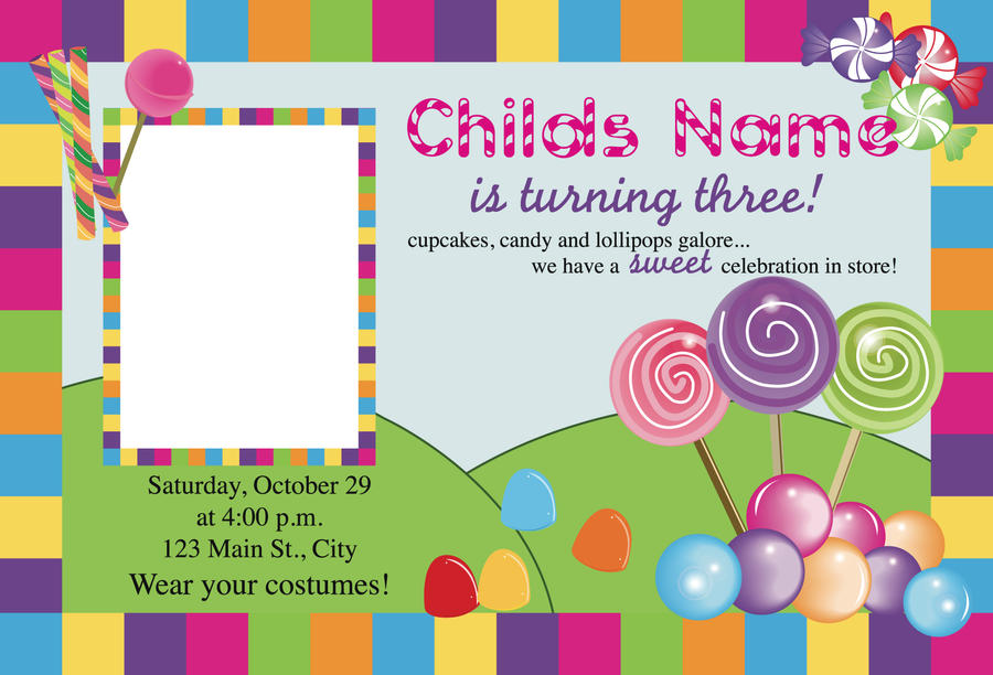 Candyland Invitation Ideas as adorable invitation example