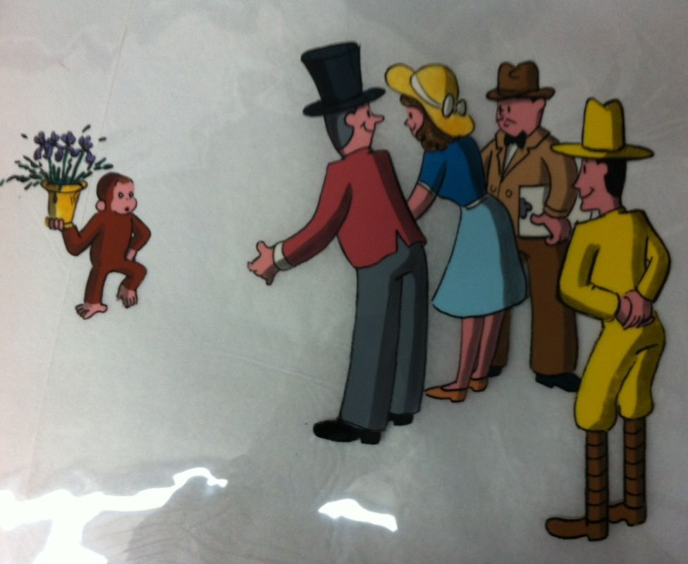 Curious George Animation Cel 1980 by mabmb1987