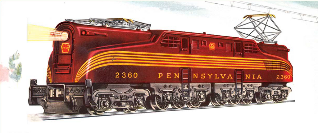 Lionel 2340 Pennsylvania GG1 (Tuscan 5 Stripe) by mabmb1987