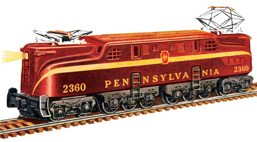 Lionel 2360 Pennsylvania GG1 (Tuscan) by mabmb1987