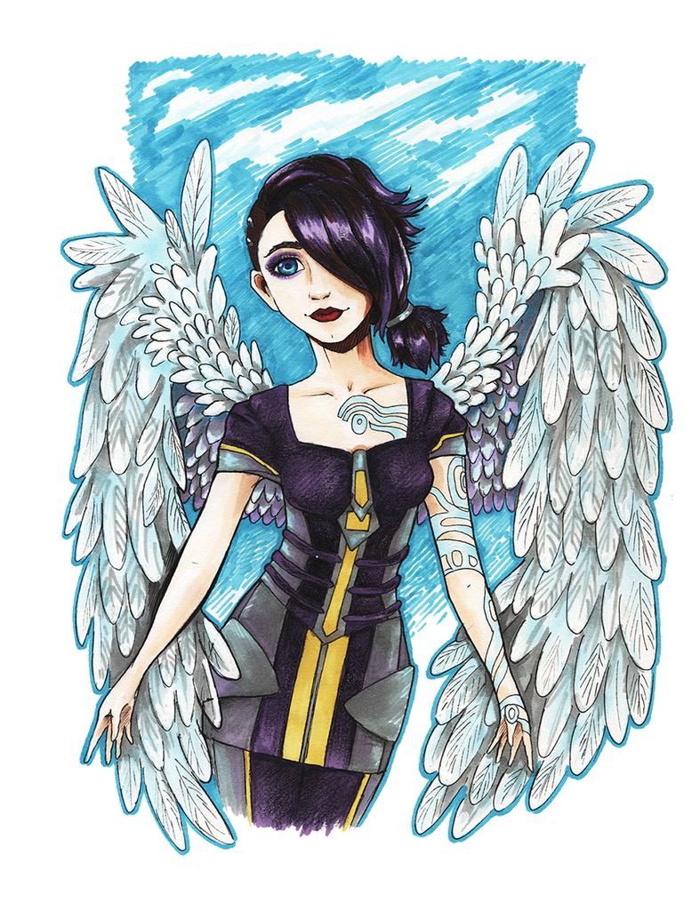 Angel:: Borderlands2 by mushyak-gone-wild