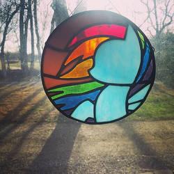 Rainbow Dash Stained Glass by IchabodGlass