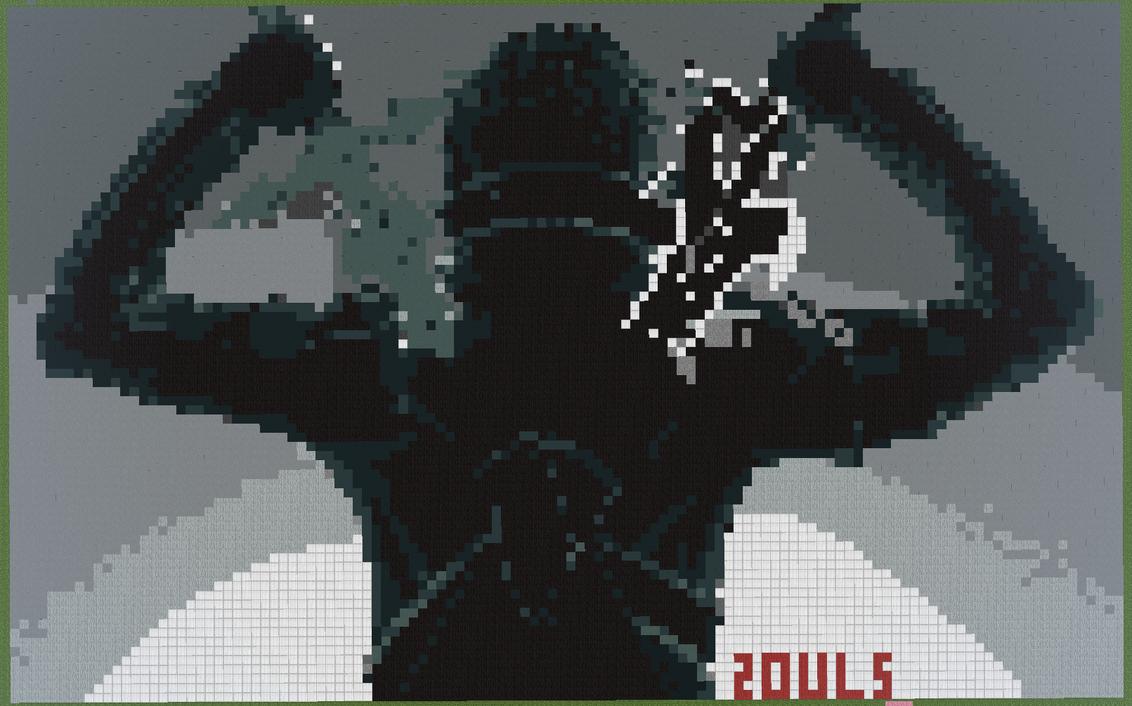 One Line Pixel Art : Sword art online kirito bit remade by bitxminecraft on