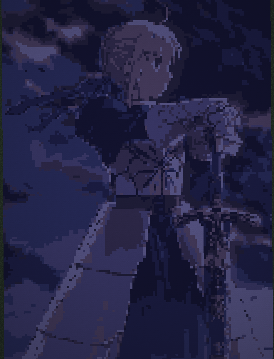 Fate stay night Saber 8bit minecraft Dark by 8bitXminecraft