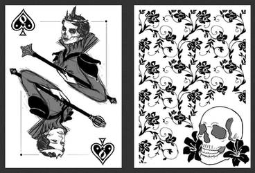 Queen of Spades Playing Card Design by Vesperius