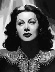Hedy Lamarr Vector by Vesperius