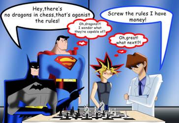 .: Batman Vs Kaiba : Chess :. by Sincity2100