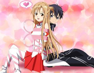 .: SAO : Kirito and Yuuki Asuna :. by Sincity2100