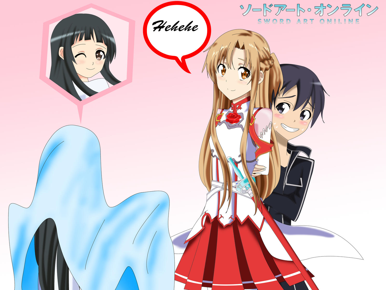 Dress up games favourites by asuna and kirito on deviantart - Sao Ghost Yui Scares Kirito By Sincity2100