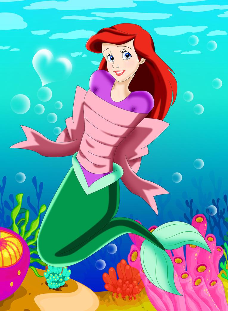 .: The Ribboned Mermaid :. by Sincity2100
