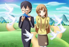 .: SAO : Playing Ocarina :. by Sincity2100