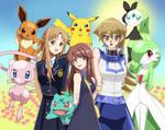 .: Pokemon : Leaf,Asuna and Asuka :. by Sincity2100