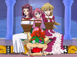 .: When King Bowser meets the Female Duelists :. by Sincity2100