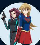 .: YGO : Asuka and Aki : Superheroes :. by Sincity2100