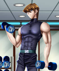 .: YGO : Kaiba Working Out :. by Sincity2100
