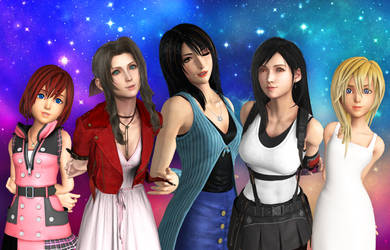 .: Final Fantasy Girls :. by Sincity2100