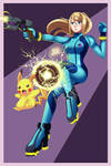 .: Samus and Pikachu in Action :. by Sincity2100