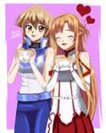 .: Asuna and Asuka : Golden Egg Sandwich :. by Sincity2100