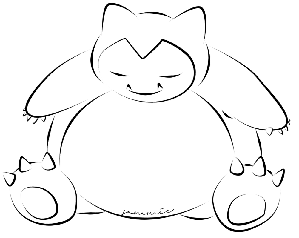 Snorlax by ensnarings on DeviantArt